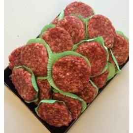Runder hamburgers