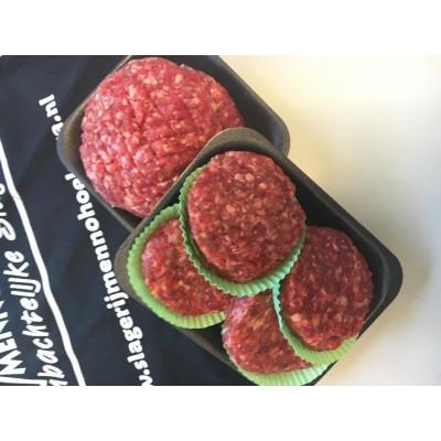 500 gram HOH gehakt & 4 Runderhamburgers